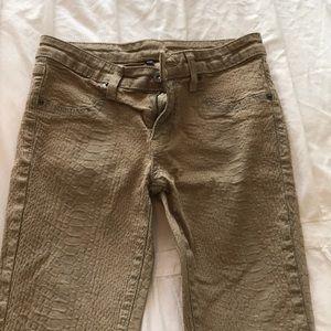 Nude snakeskin Carmar LF jeans. Size 26